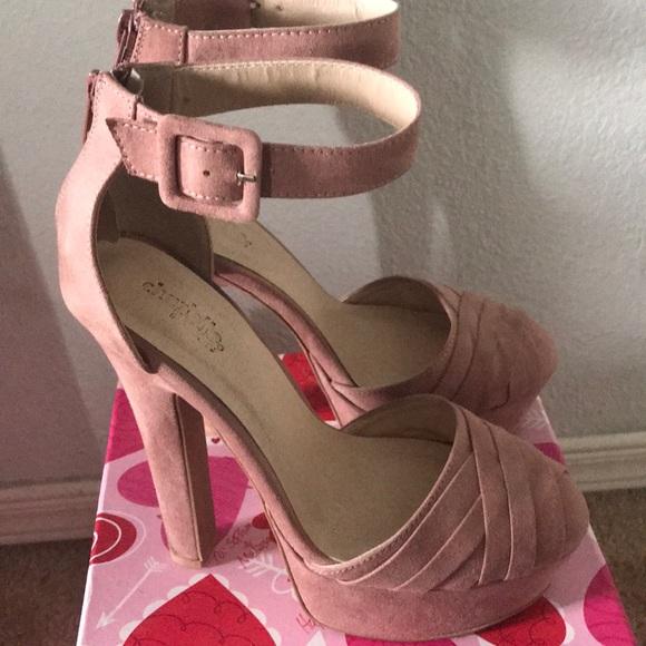 ae21646997 Charlotte Russe Shoes | Blush Pink Closed Toe High Heels | Poshmark